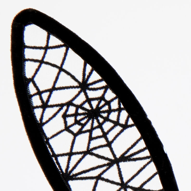 Bunny Ears Spider Web Headband - Black,