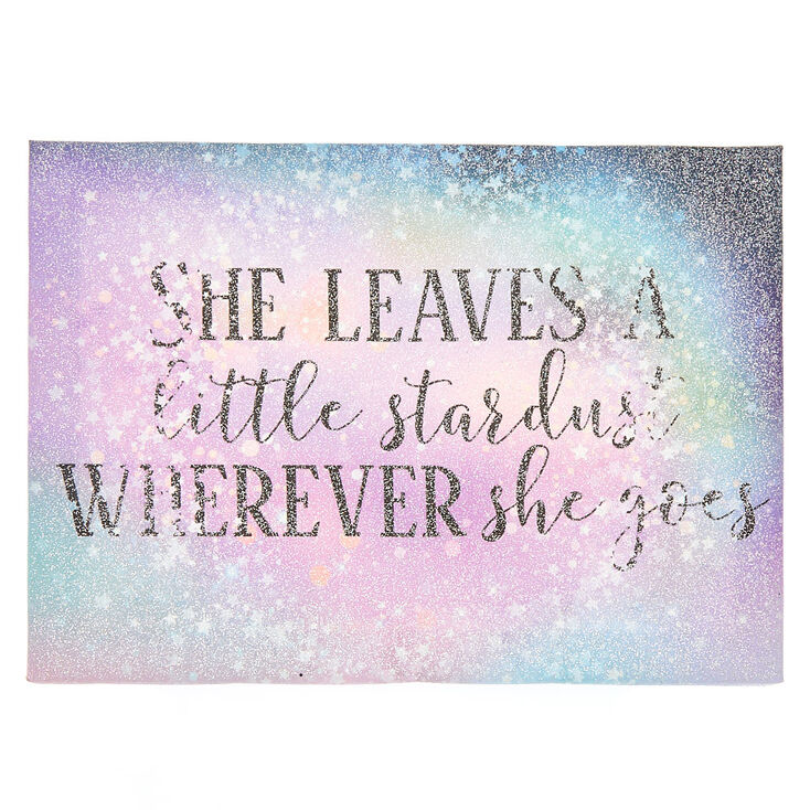 Stardust Glitter Wall Canvas - Purple,