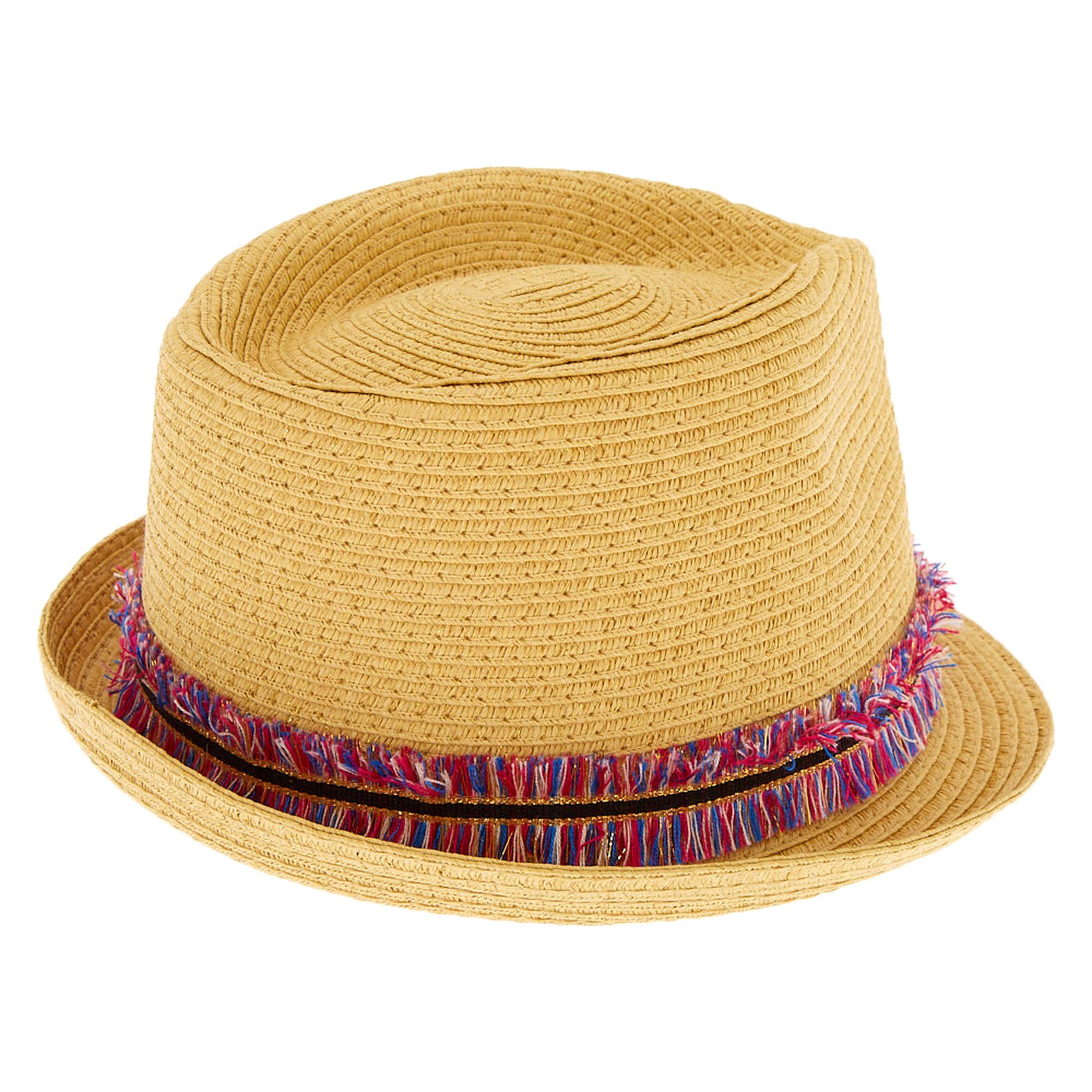 eebf3eb50dd711 Rainbow Fringe Fedora Hat | Icing US