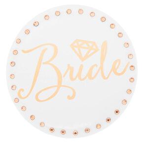 Rose Gold Bride Button,