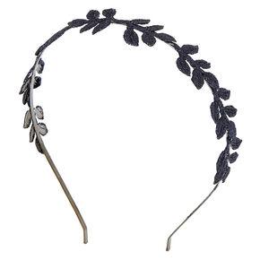 Hematte Glitter Leaves Headband,