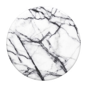PopSockets Swappable PopGrip - Dove White Marble,