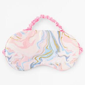 Pastel Marble Sleeping Mask - Pink,