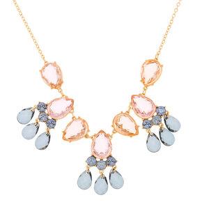 Pastel Shine Teardrop Statement Necklace,
