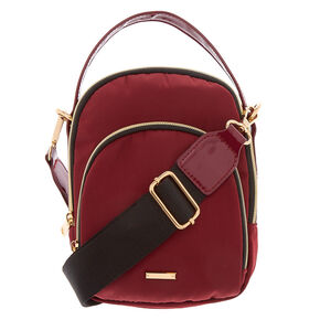 Messenger Crossbody Bag - Burgundy,