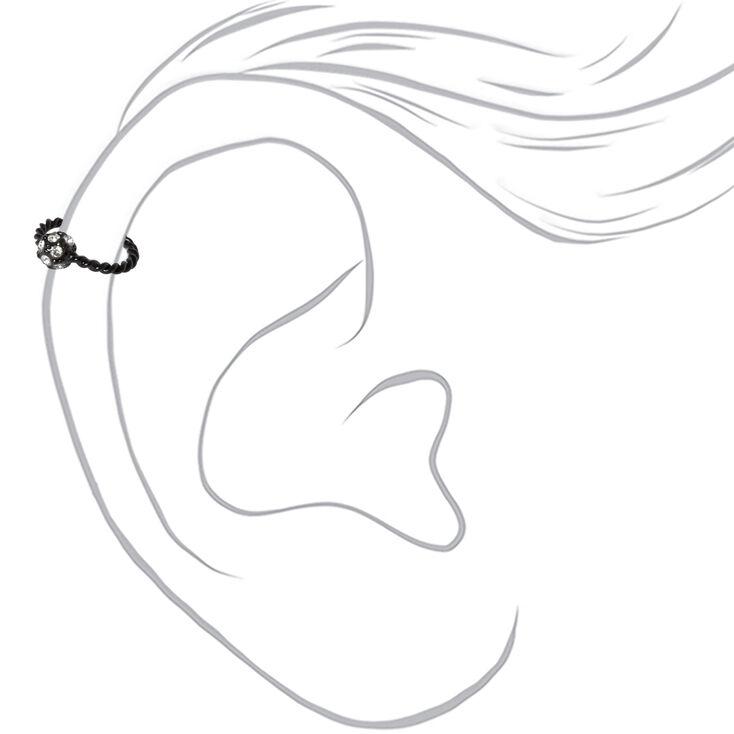 Black 16G Fireball Twisted Helix Hoop Earring,