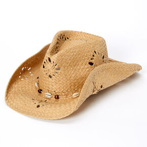 Straw Aussie Cowboy Hat - Tan,