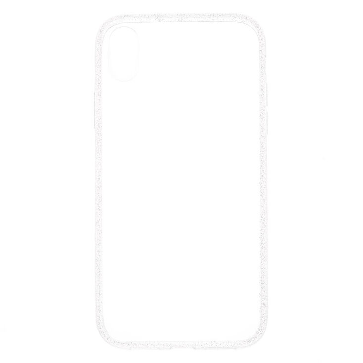 Clear Glitter Border Phone Case  - Fits iPhone XR,