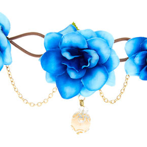 Gold Chain Ombre Flower Crown - Blue,