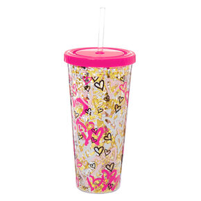 Graffiti Hearts Tumbler Cup,