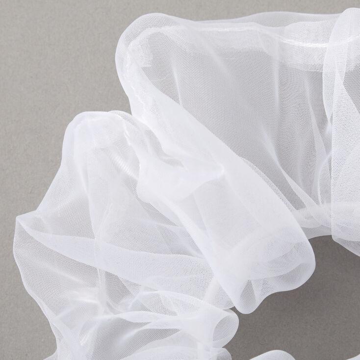 Giant Organza Hair Scrunchie - White,