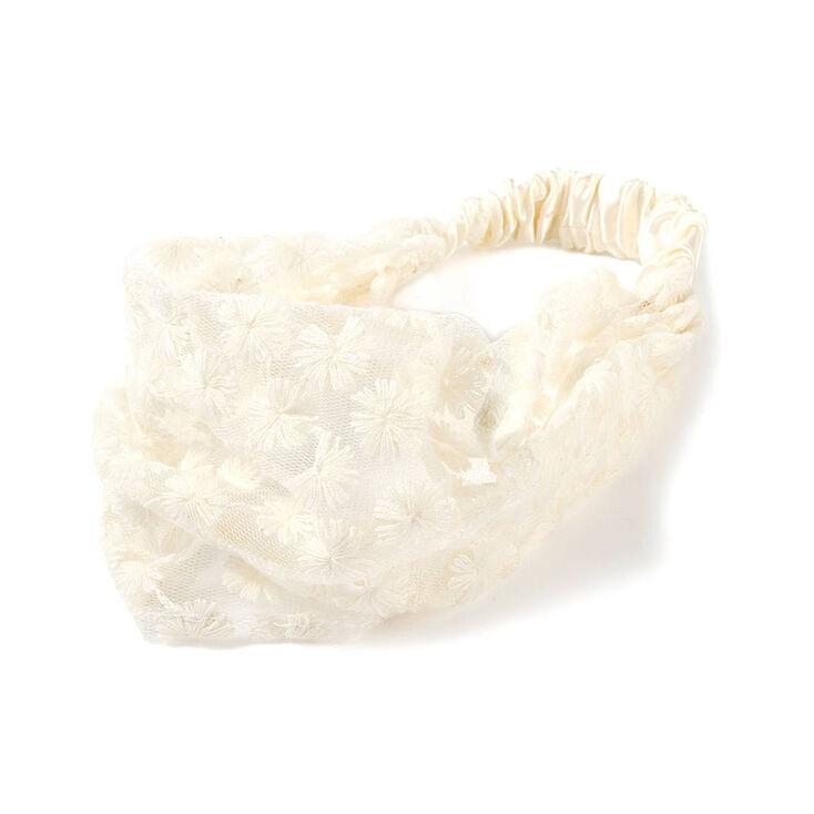 Crochet Flower Headwrap,