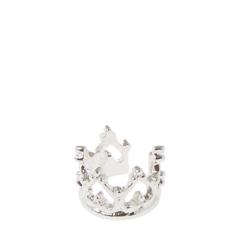 Silver Crown Ear Cuff,