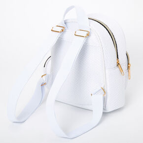 Mesh Small Backpack - White,