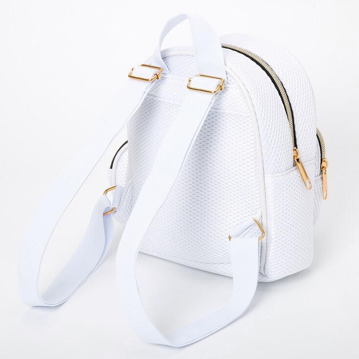 Mesh Small Backpack - White,
