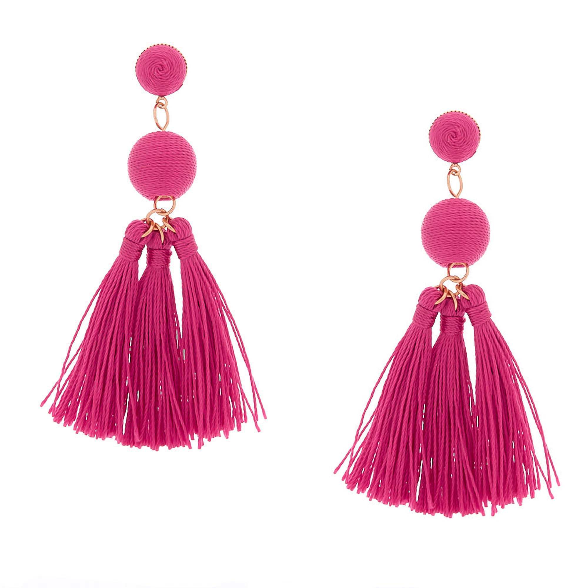 3 Wred Tel Drop Earrings