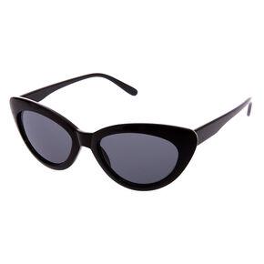 Black Retro Cat Eye Sunglasses,