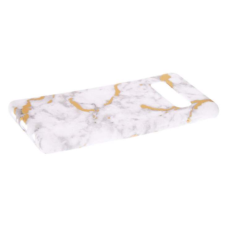 White & Gold Marble Phone Case - Fits Samsung S10,