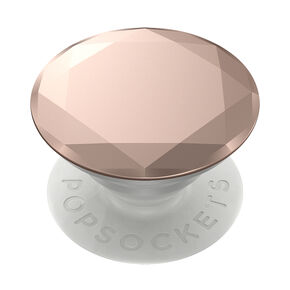 Rose Gold Metallic Diamond PopGrip PopSocket,