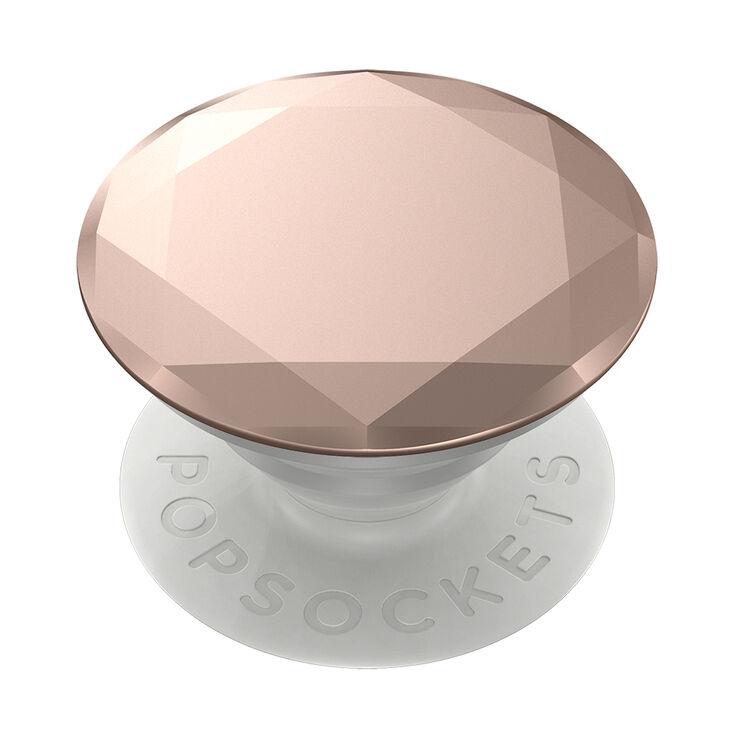 Rose Gold Metallic Diamond PopGrip PopSocket,