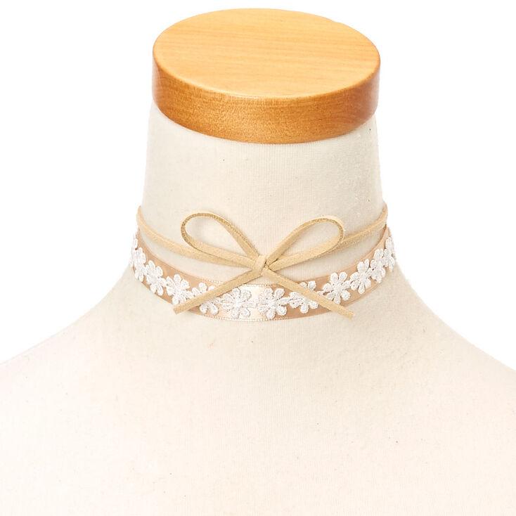 3 Piece Lace Bow Choker Necklace Set  f8b359aa296c