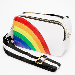 Rainbow Crossbody Bag - White,