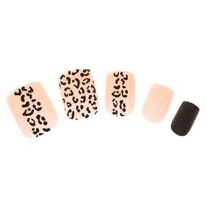 Matte Leopard Instant Nails,