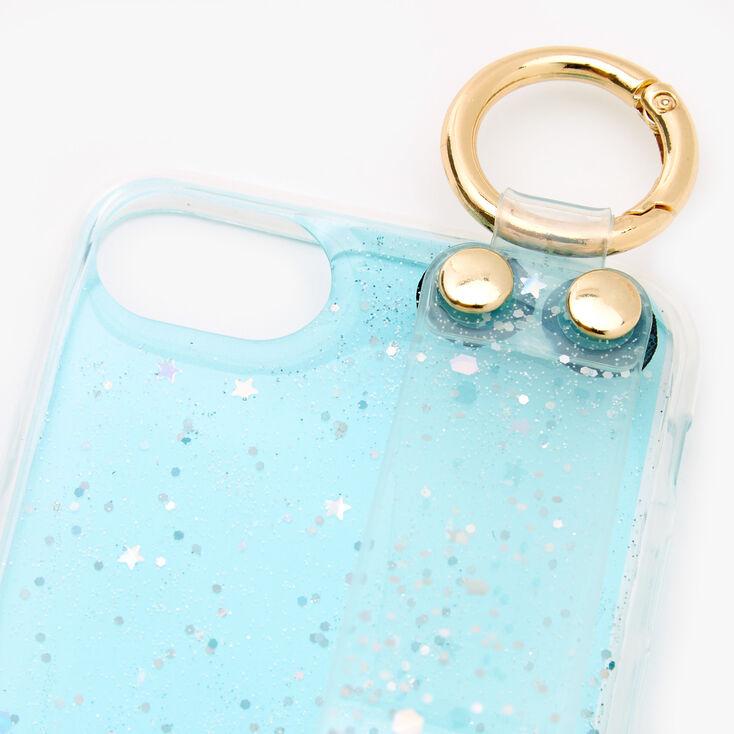 Baby Blue Glitter Pom Pom Phone Case - Fits iPhone® 6/7/8/SE,