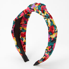 Bright Floral Knotted Headband,