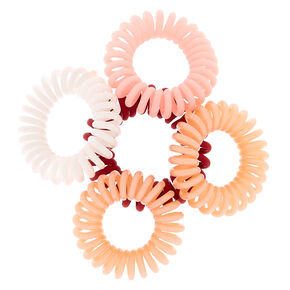 Mini Berry Spiral Hair Ties - 5 Pack,