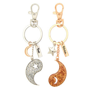Best Friends Yin & Yang Best Bitches Keychain Set - 2 Pack,