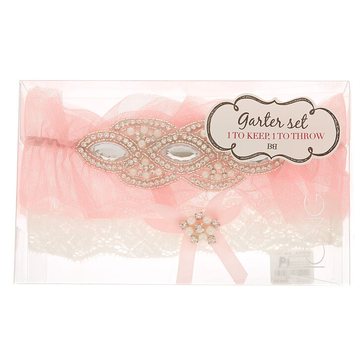Pretty in Pink Garter Set - 2 Pack,
