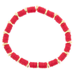 Hot Pink Disk Stretch Bracelet,