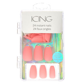 Pink Pastel Matte Instant Nails,