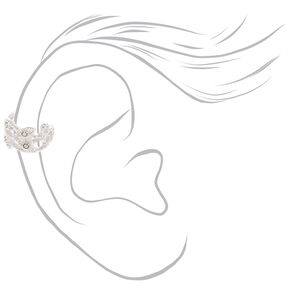 Silver Vintage Crystal Lace Ear Cuff,