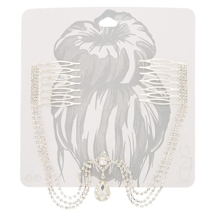 Vintage Silver Hair Swag,