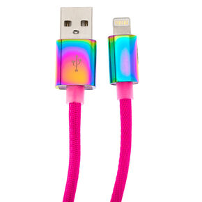Rainbow Neon Long USB Cord,