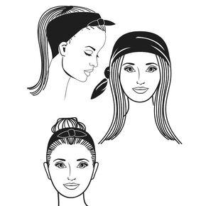 Black Paisley Bandana Headwrap,