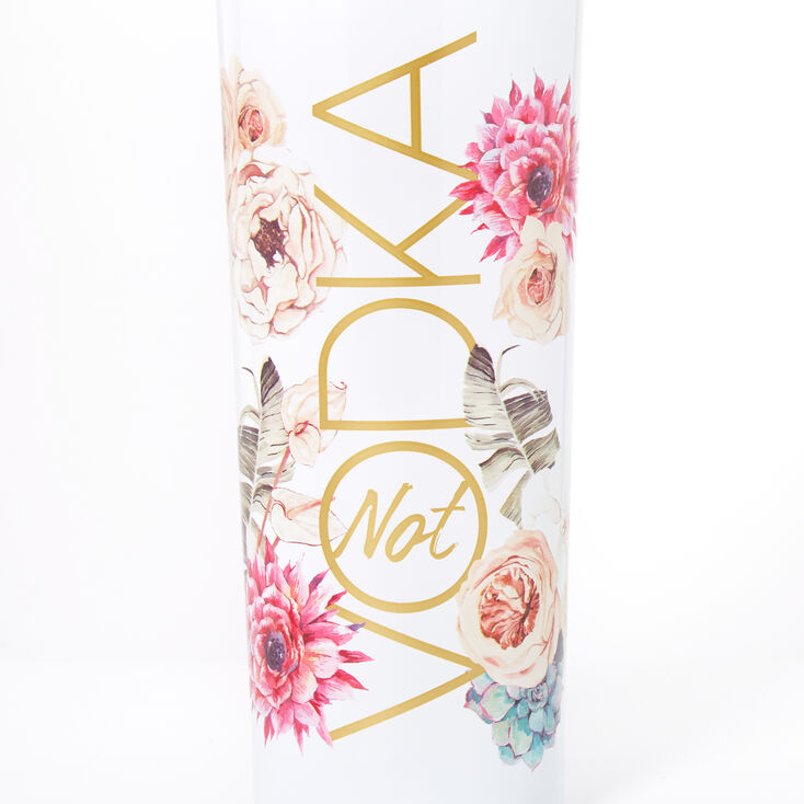 Not Vodka Floral Metal Water Bottle - White,