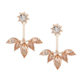 Rose Gold-Tone Ear Jacket Earrings,