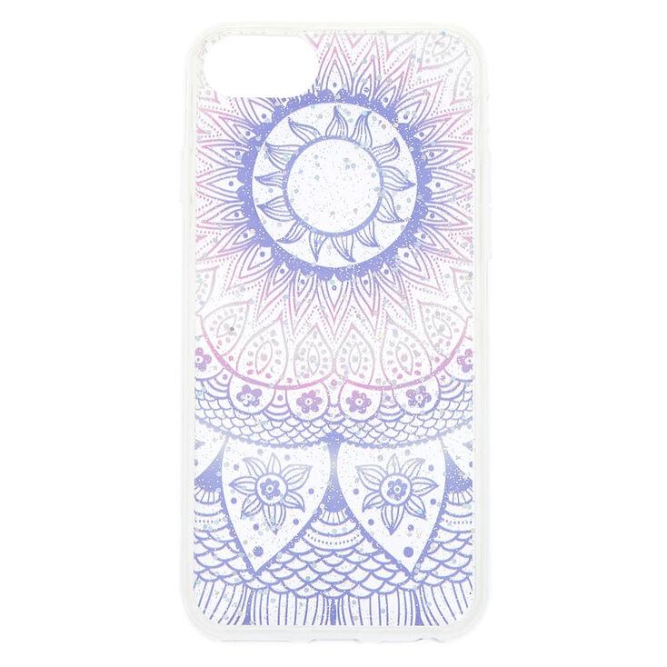 Pastel Glitter Mandala Phone Case - Fits iPhone 6/7/8 Plus,