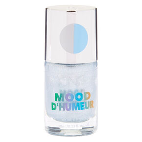 Mood Nail Polish - Glitter Silver,