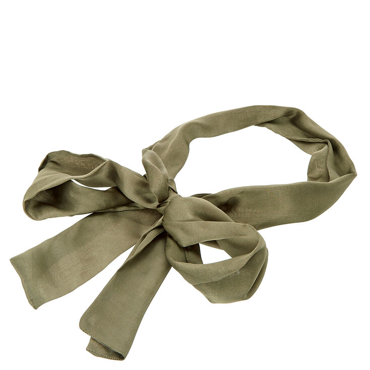 Hunter Green Skinny Scarf,