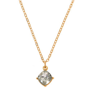 April Birthstone Pendant Necklace - Diamond,