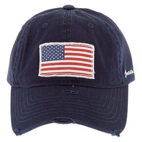 American Flag Patch Baseball Hat - Navy,