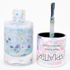 Splatter Nail Polish - Blue Confetti,