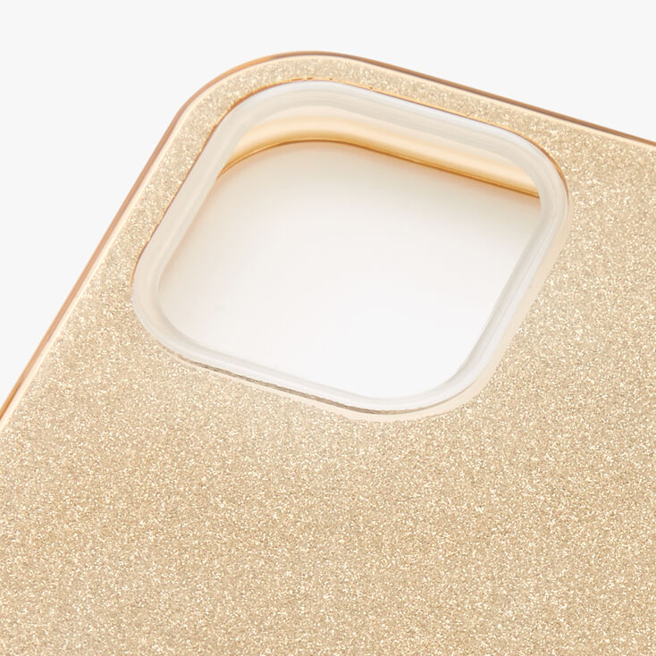 Gold Glitter Protective Phone Case - Fits iPhone® 12/12 Pro,