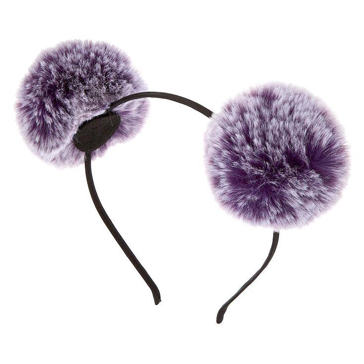 Ombre Pom Pom Ears Headband - Purple,