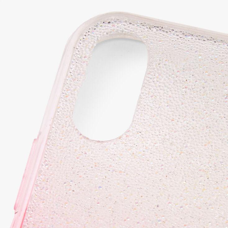 Bright Pink Ombre Caviar Glitter Phone Case - Fits iPhone XR,