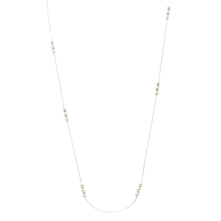 Pearl Cluster Long Necklace,